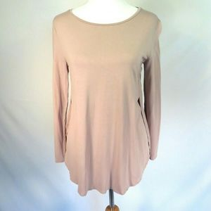 Old Navy Curved Hem Tunic Tee Mineral Pink M